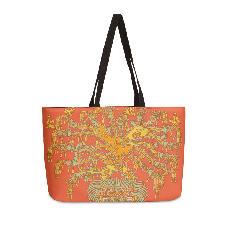 Teotihuacan Tree Accessories Weekender Bag Bag by Big Red Hair's Artist Shop