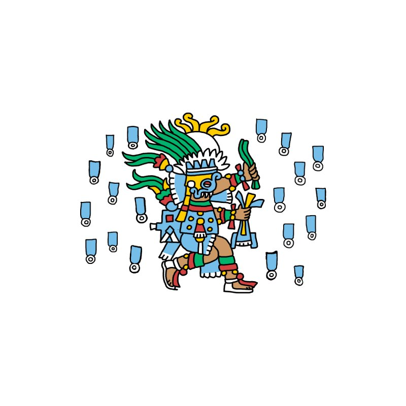 Tlaloc, God of Rain Men's T-Shirt by Big Red Hair's Artist Shop