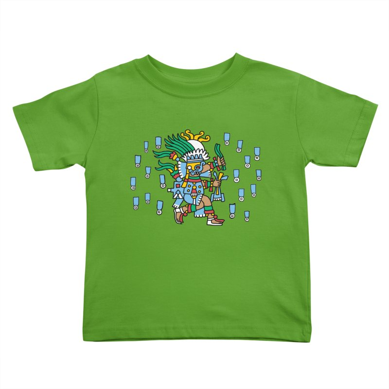 Tlaloc, God of Rain Kids Toddler T-Shirt by Big Red Hair's Artist Shop