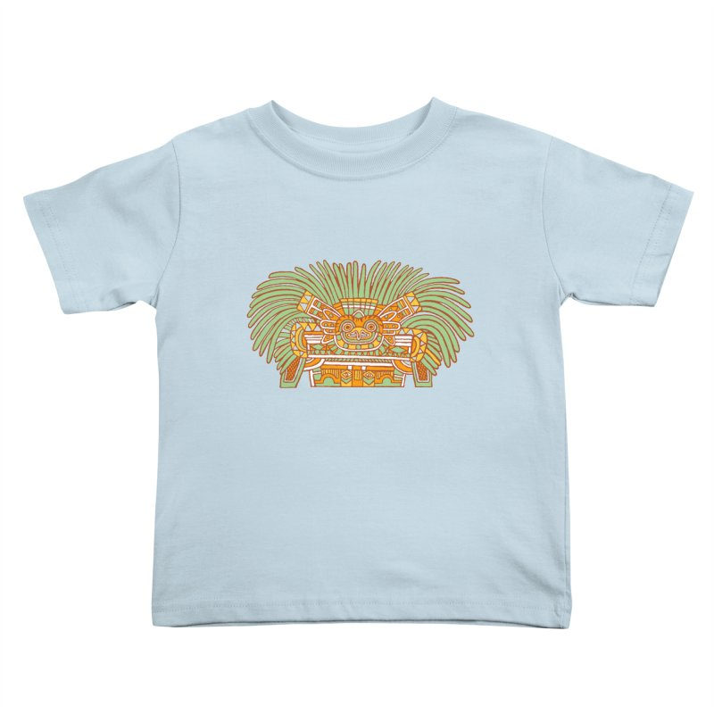 Teotihuacan Owl Kids Toddler T-Shirt by Big Red Hair's Artist Shop