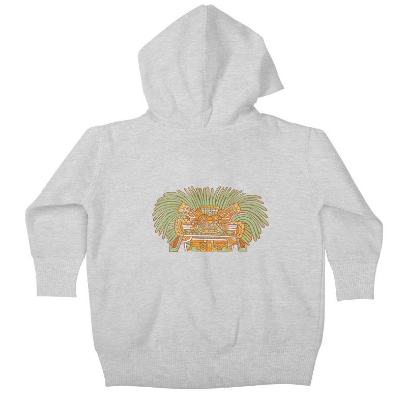 Teotihuacan Owl Kids Baby Zip-Up Hoody by Big Red Hair's Artist Shop