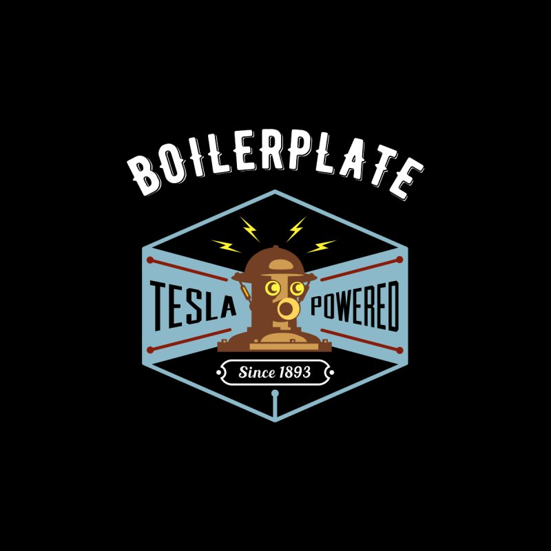 Boilerplate: Tesla Powered Since 1893 Women's Longsleeve T-Shirt by Big Red Hair's Artist Shop