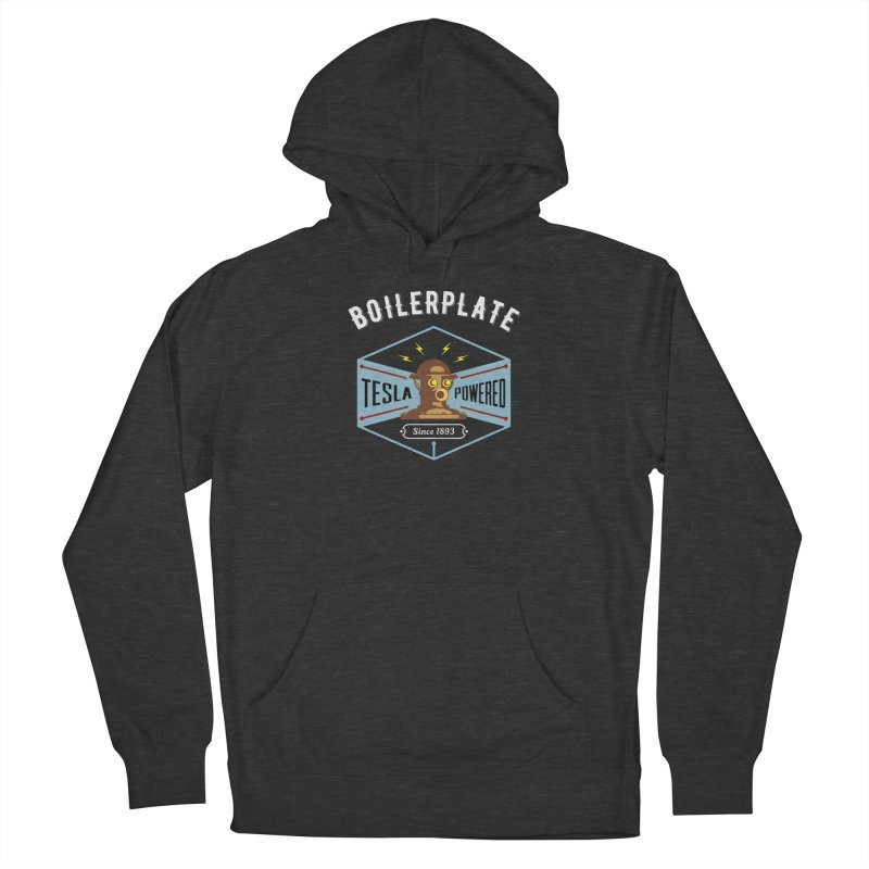 Boilerplate: Tesla Powered Since 1893 Women's French Terry Pullover Hoody by Big Red Hair's Artist Shop
