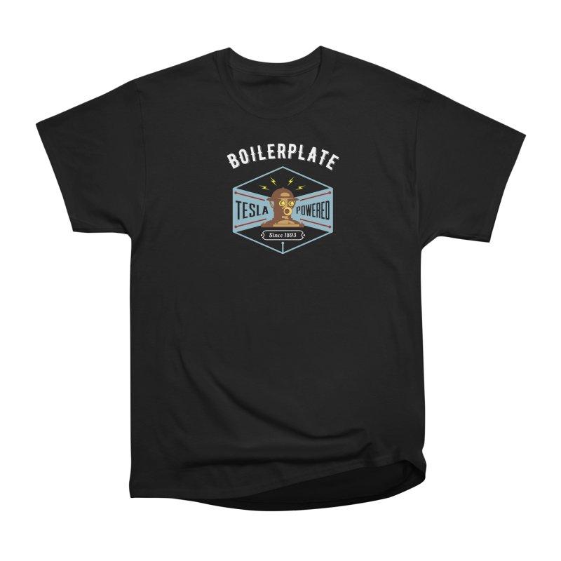 Boilerplate: Tesla Powered Since 1893 Men's Heavyweight T-Shirt by Big Red Hair's Artist Shop