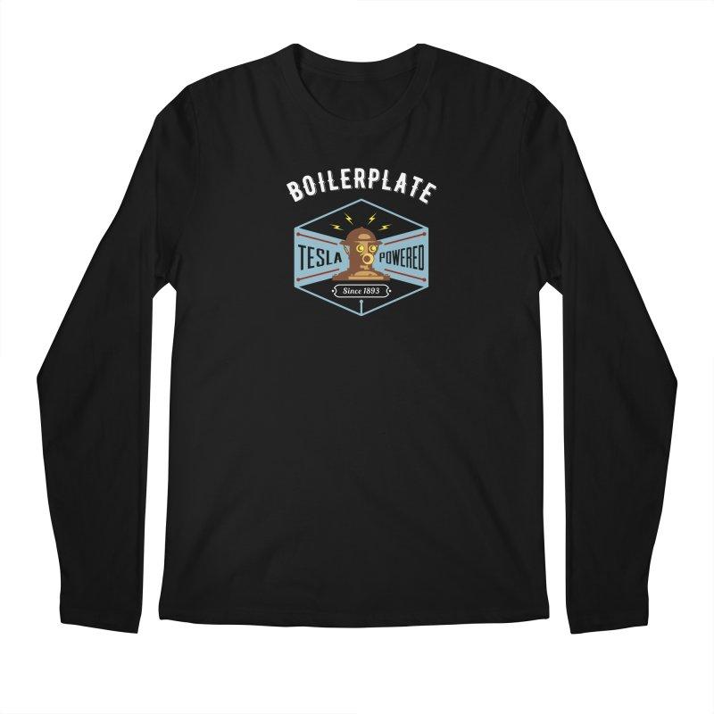 Boilerplate: Tesla Powered Since 1893 Men's Regular Longsleeve T-Shirt by Big Red Hair's Artist Shop