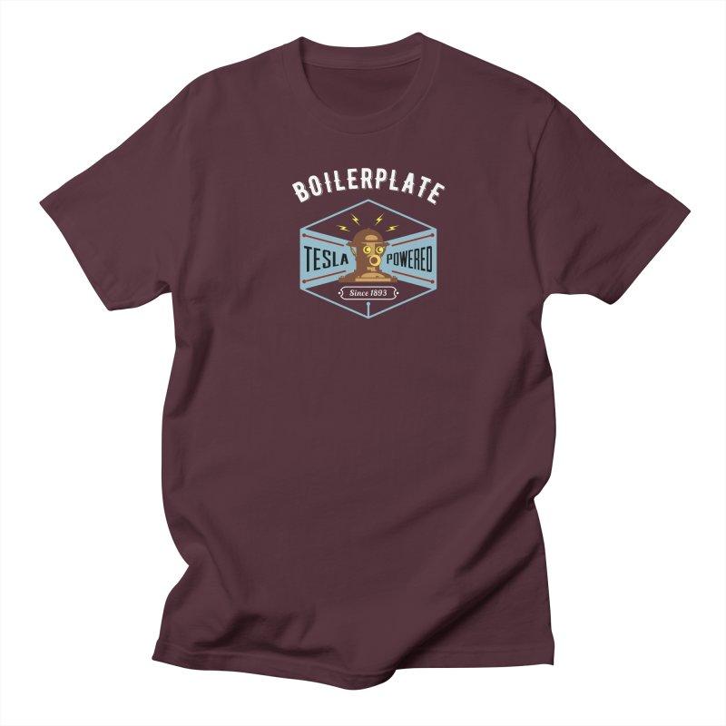 Boilerplate: Tesla Powered Since 1893 Women's Regular Unisex T-Shirt by Big Red Hair's Artist Shop