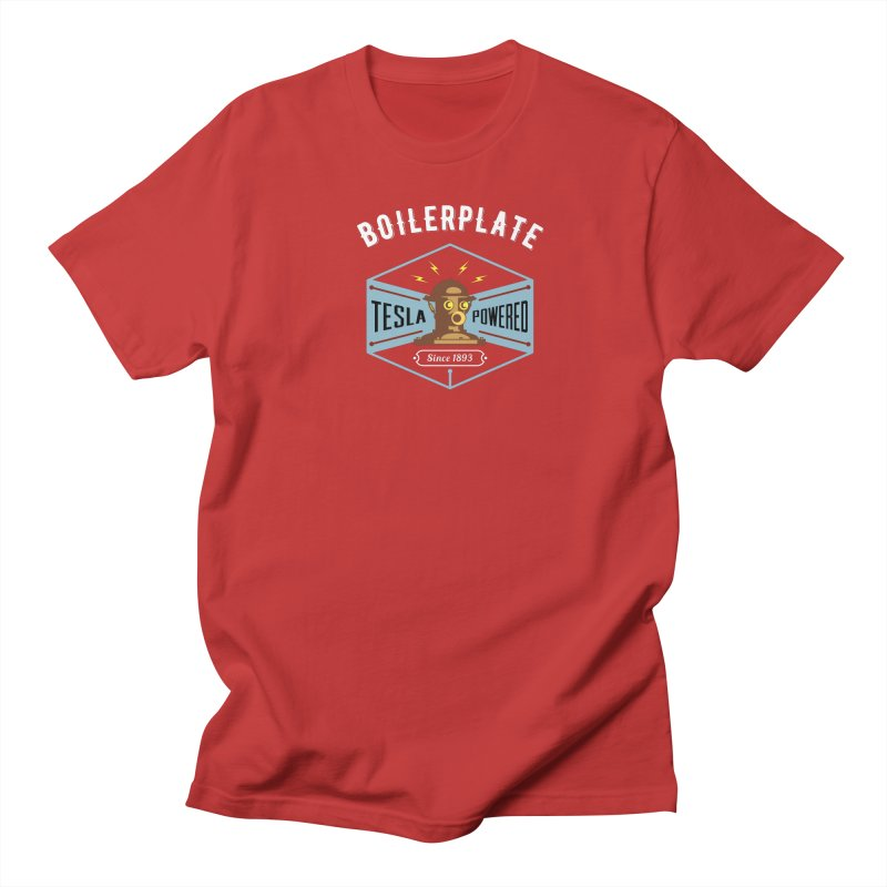 Boilerplate: Tesla Powered Since 1893 Men's Regular T-Shirt by Big Red Hair's Artist Shop