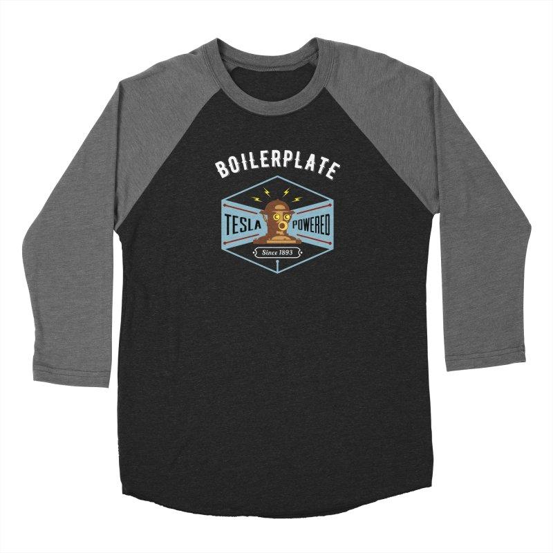 Boilerplate: Tesla Powered Since 1893 Men's Baseball Triblend Longsleeve T-Shirt by Big Red Hair's Artist Shop