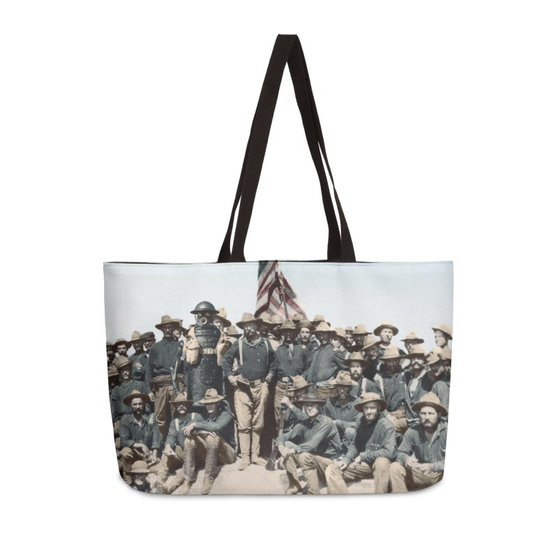 Boilerplate and the Rough Riders Accessories Weekender Bag Bag by Big Red Hair's Artist Shop