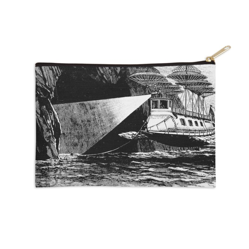Into the Dark - A Frank Reade Adventure Accessories Zip Pouch by Big Red Hair's Artist Shop