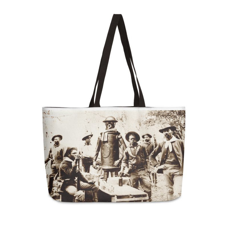 Boilerplate with Buffalo Soldiers Accessories Weekender Bag Bag by Big Red Hair's Artist Shop