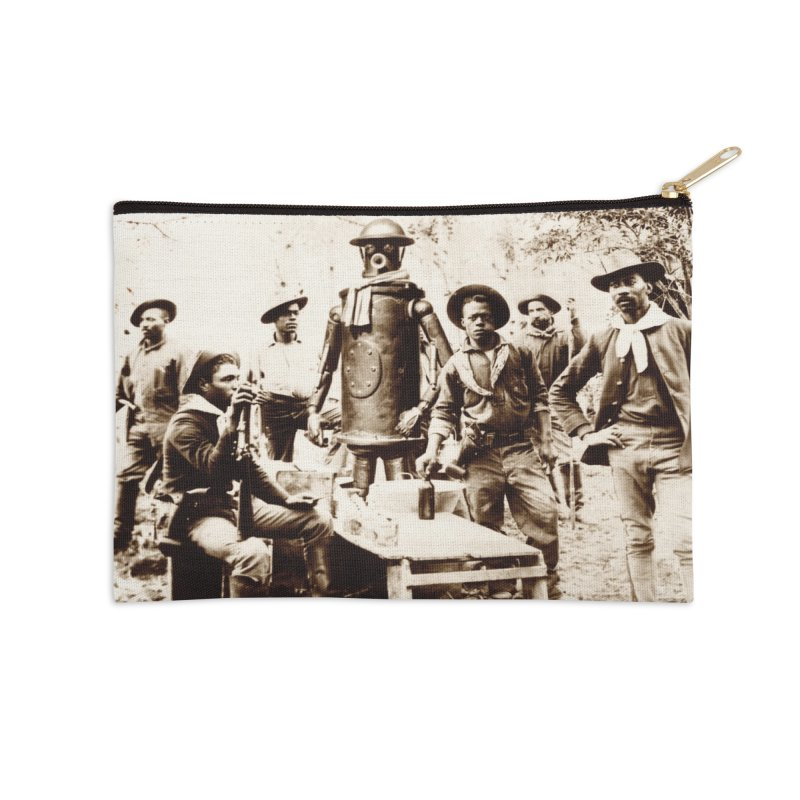 Boilerplate with Buffalo Soldiers Accessories Zip Pouch by Big Red Hair's Artist Shop