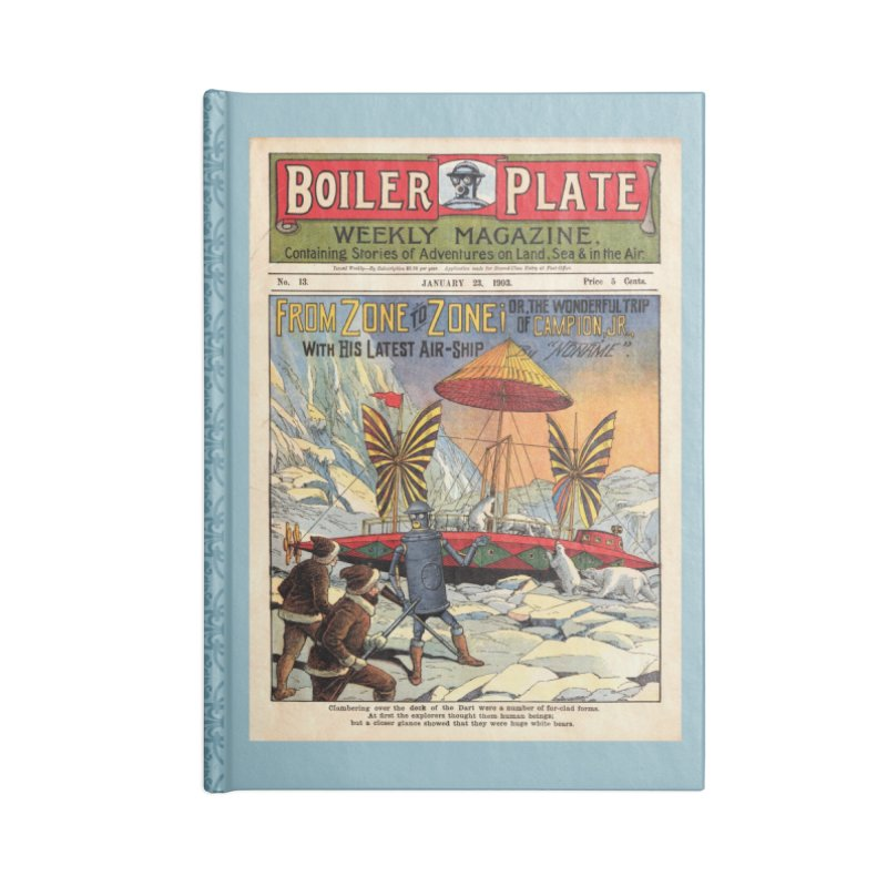 Boilerplate and the Polar Bears Accessories Lined Journal Notebook by Big Red Hair's Artist Shop