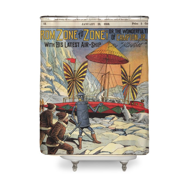 Boilerplate and the Polar Bears Home Shower Curtain by Big Red Hair's Artist Shop