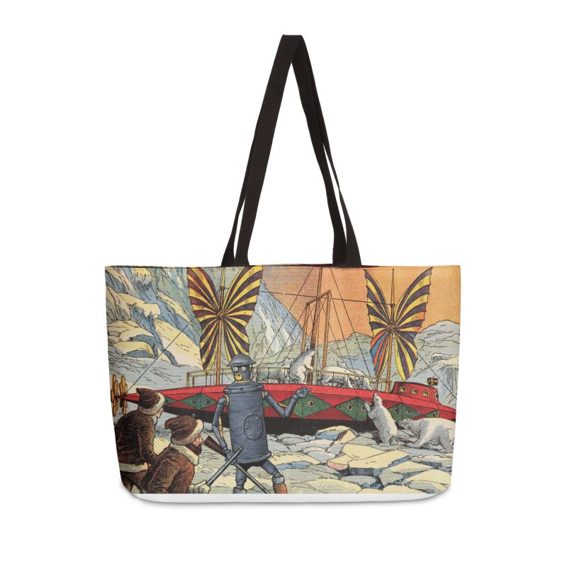Boilerplate and the Polar Bears Accessories Weekender Bag Bag by Big Red Hair's Artist Shop