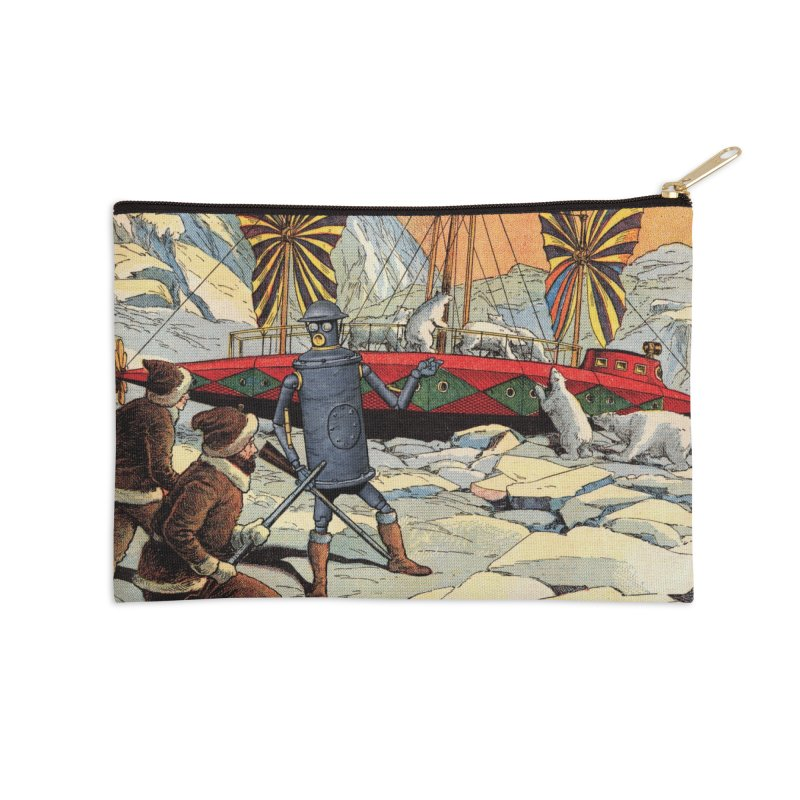 Boilerplate and the Polar Bears Accessories Zip Pouch by Big Red Hair's Artist Shop