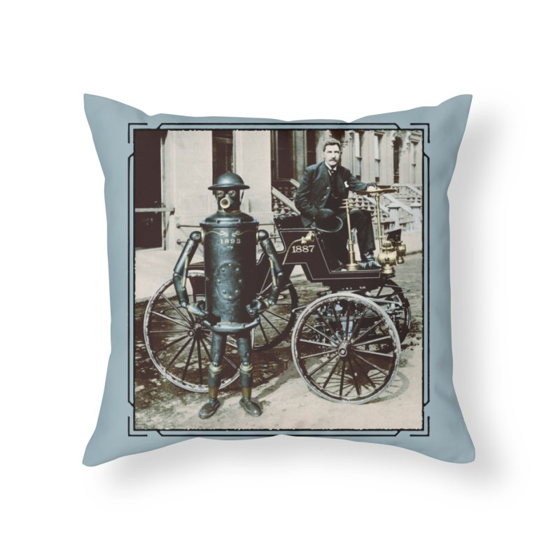 Boilerplate and Its Inventor Home Throw Pillow by Big Red Hair's Artist Shop