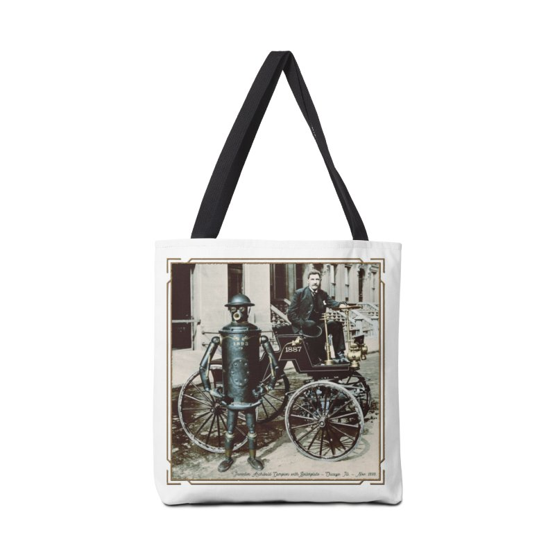 Boilerplate and Its Inventor Accessories Tote Bag Bag by Big Red Hair's Artist Shop