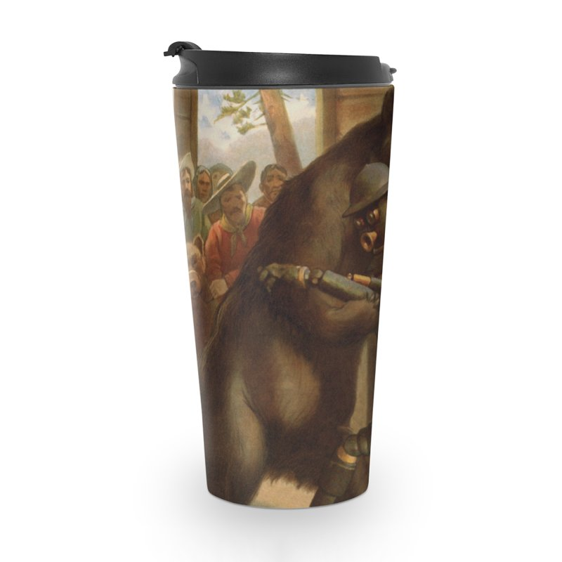 Boilerplate Wrestles a Grizzly Accessories Travel Mug by Big Red Hair's Artist Shop