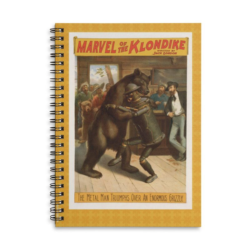 Boilerplate Wrestles a Grizzly Accessories Lined Spiral Notebook by Big Red Hair's Artist Shop