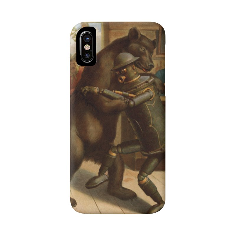 Boilerplate Wrestles a Grizzly Accessories Phone Case by Big Red Hair's Artist Shop