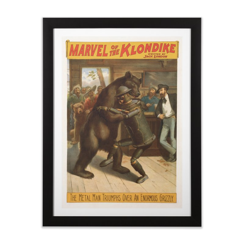 Boilerplate Wrestles a Grizzly Home Framed Fine Art Print by Big Red Hair's Artist Shop
