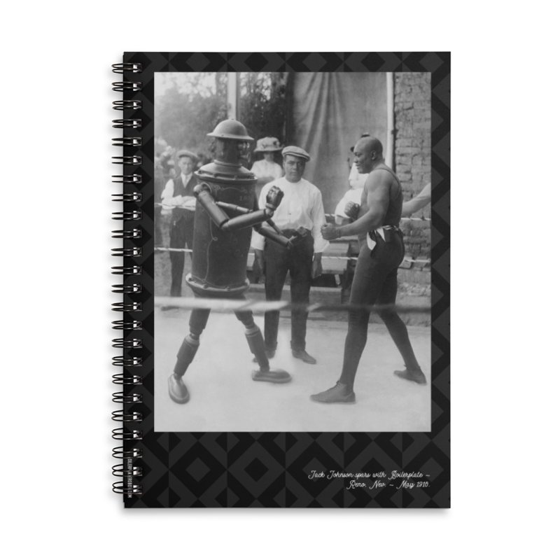 Boilerplate Spars with Jack Johnson Accessories Lined Spiral Notebook by Big Red Hair's Artist Shop