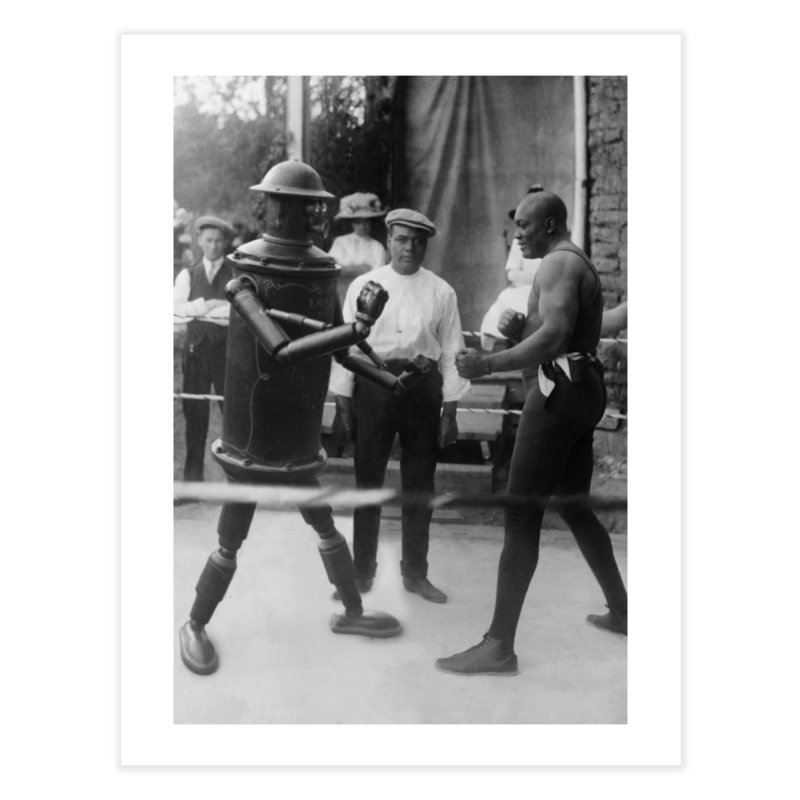 Boilerplate Spars with Jack Johnson Home Fine Art Print by Big Red Hair's Artist Shop