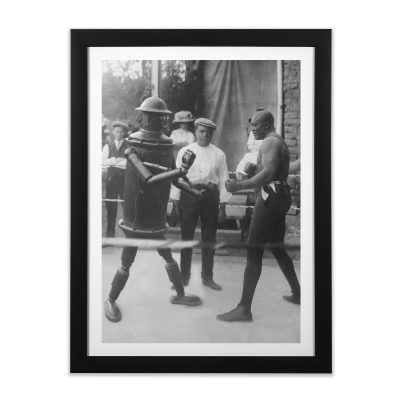 Boilerplate Spars with Jack Johnson Home Framed Fine Art Print by Big Red Hair's Artist Shop