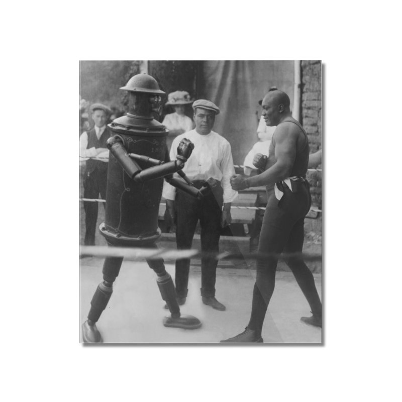 Boilerplate Spars with Jack Johnson Home Mounted Acrylic Print by Big Red Hair's Artist Shop