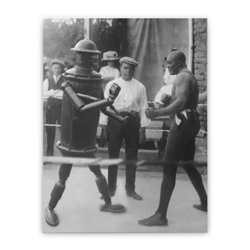 Boilerplate Spars with Jack Johnson Home Stretched Canvas by Big Red Hair's Artist Shop