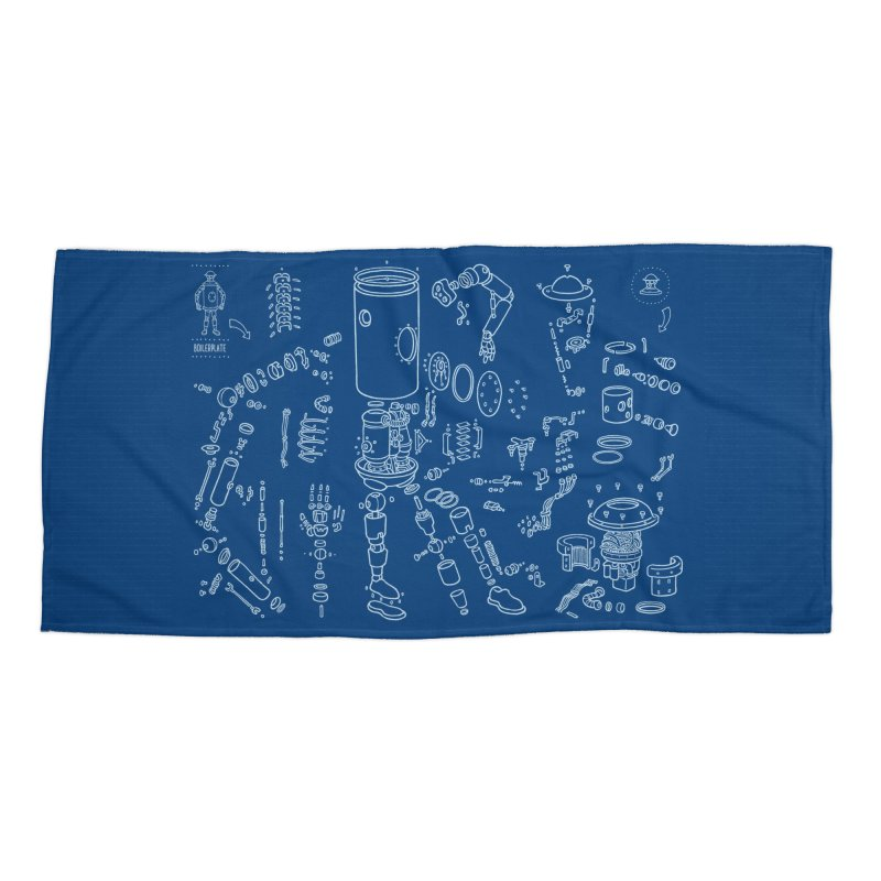 Boilerplate Robot Diagram (Partial) Accessories Beach Towel by Big Red Hair's Artist Shop