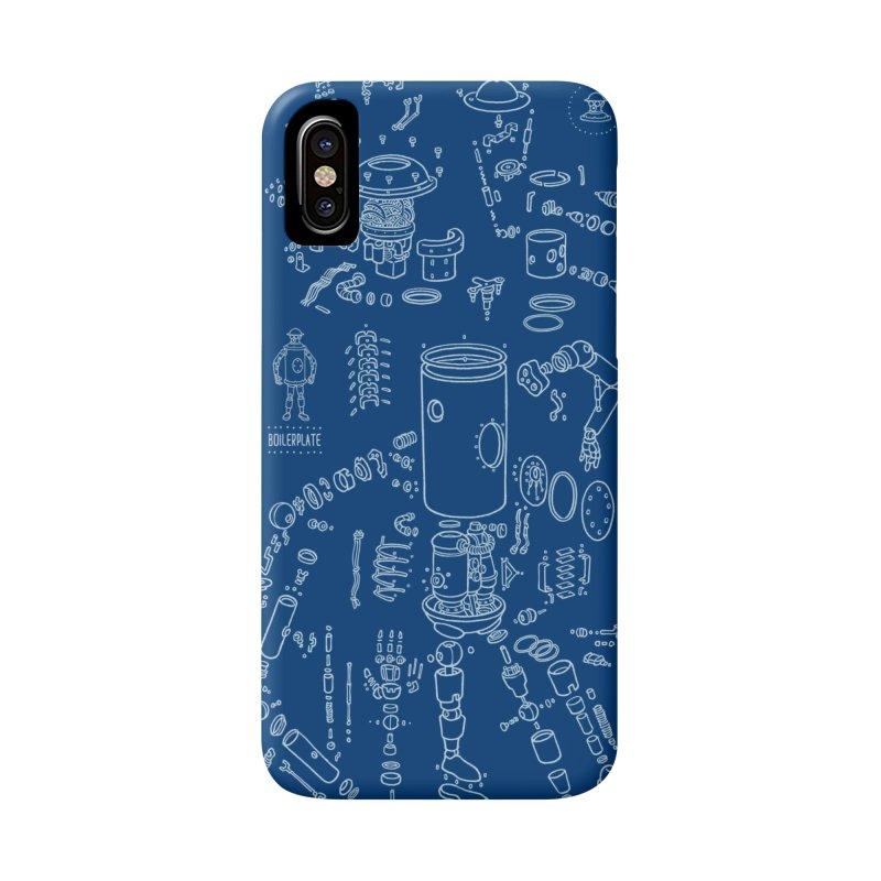 Boilerplate Robot Diagram (Partial) Accessories Phone Case by Big Red Hair's Artist Shop
