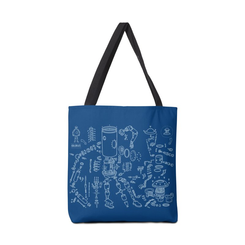 Boilerplate Robot Diagram (Partial) Accessories Tote Bag Bag by Big Red Hair's Artist Shop
