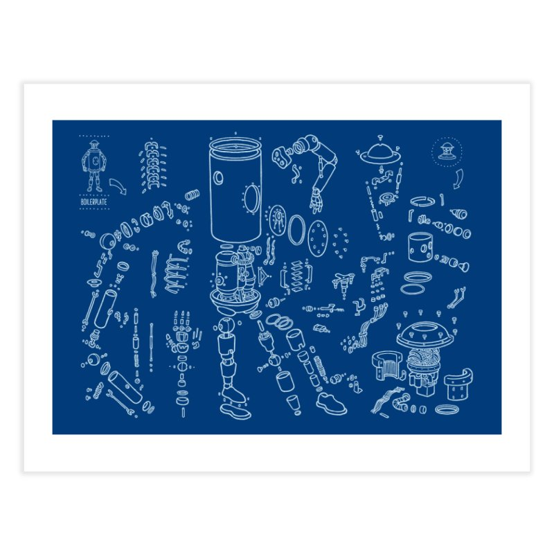 Boilerplate Robot Diagram (Partial) Home Fine Art Print by Big Red Hair's Artist Shop