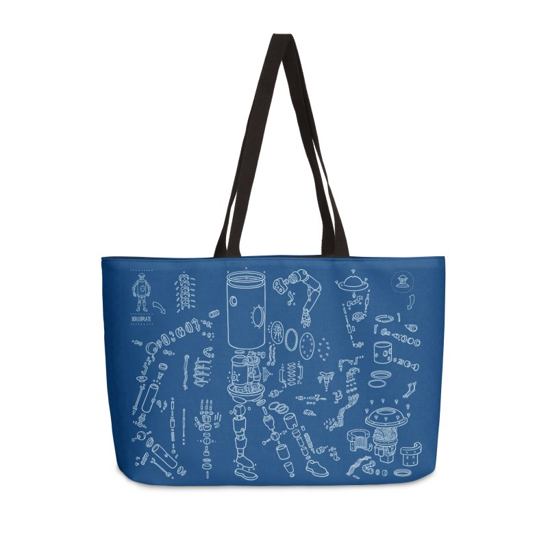 Boilerplate Robot Diagram (Partial) Accessories Weekender Bag Bag by Big Red Hair's Artist Shop
