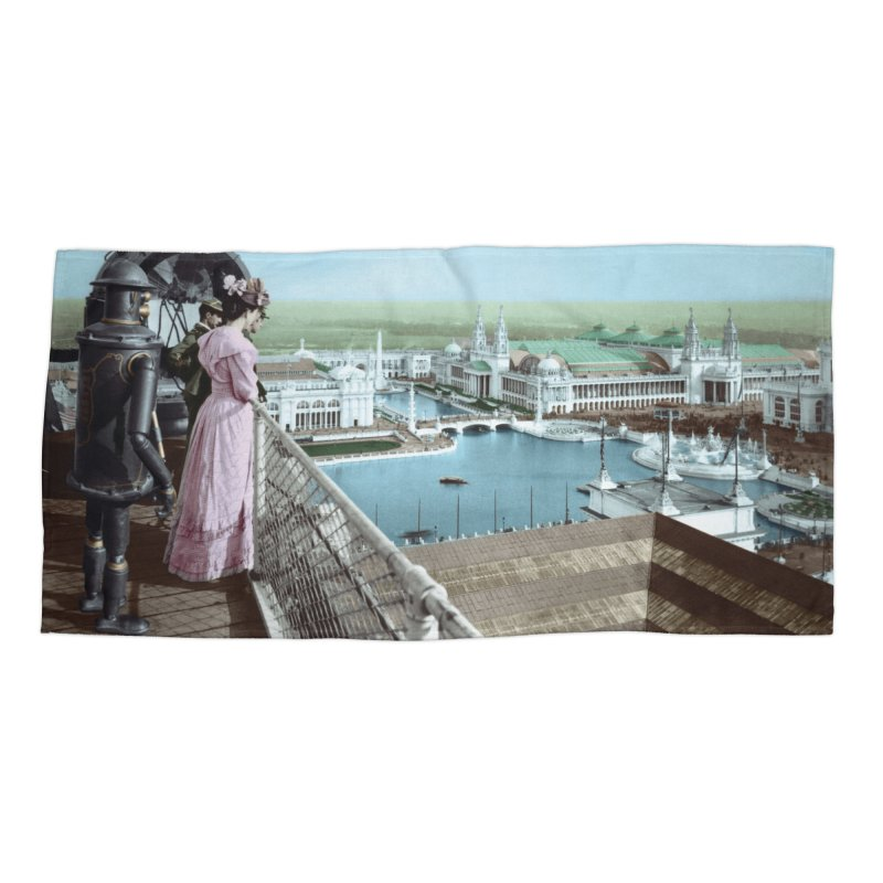 Boilerplate at the Chicago World's Fair Accessories Beach Towel by Big Red Hair's Artist Shop