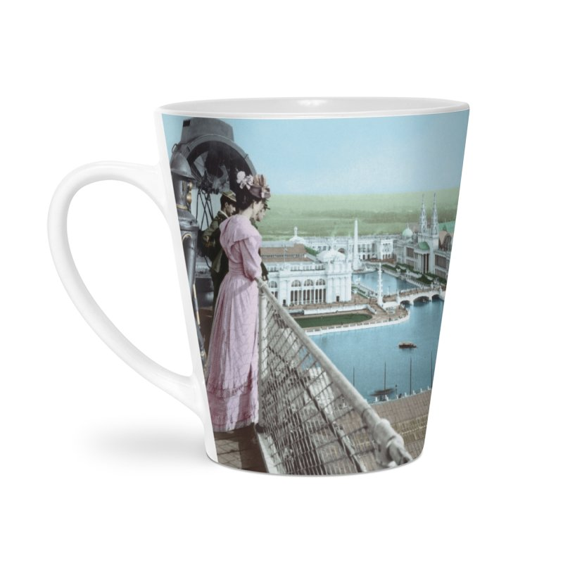 Boilerplate at the Chicago World's Fair Accessories Latte Mug by Big Red Hair's Artist Shop