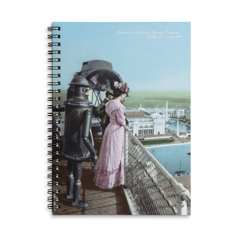 Boilerplate at the Chicago World's Fair Accessories Lined Spiral Notebook by Big Red Hair's Artist Shop