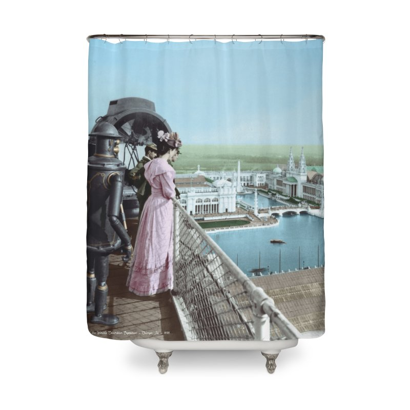 Boilerplate at the Chicago World's Fair Home Shower Curtain by Big Red Hair's Artist Shop