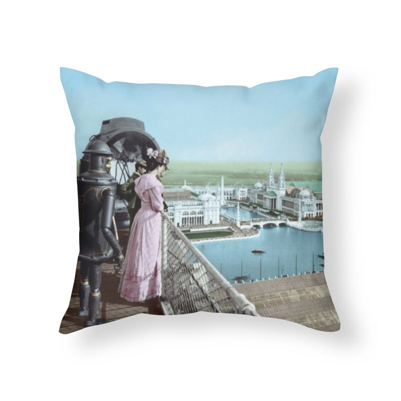 Boilerplate at the Chicago World's Fair Home Throw Pillow by Big Red Hair's Artist Shop