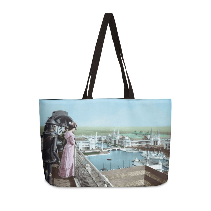 Boilerplate at the Chicago World's Fair Accessories Weekender Bag Bag by Big Red Hair's Artist Shop