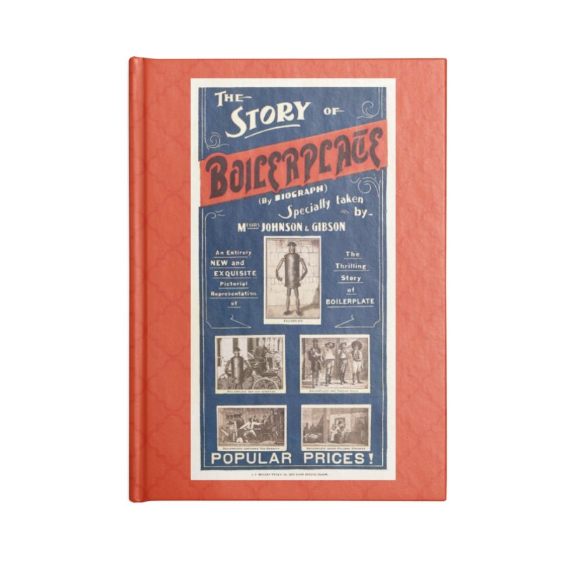 Boilerplate Movie Poster Accessories Notebook by Big Red Hair's Artist Shop