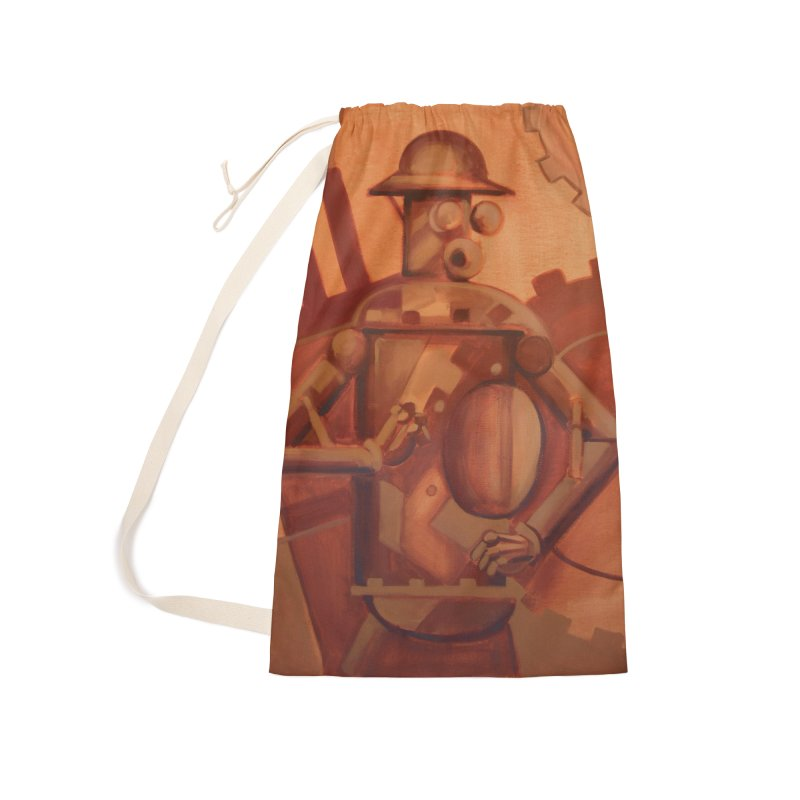 Boilerplate Industrial Painting Accessories Laundry Bag Bag by Big Red Hair's Artist Shop