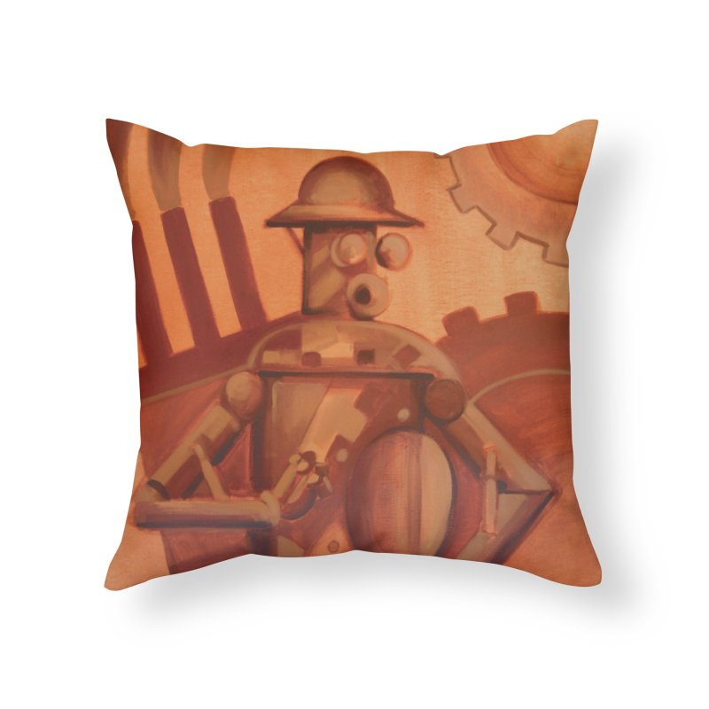 Boilerplate Industrial Painting Home Throw Pillow by Big Red Hair's Artist Shop