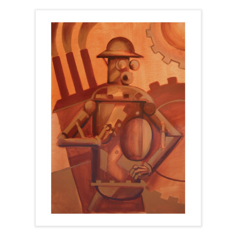 Boilerplate Industrial Painting Home Fine Art Print by Big Red Hair's Artist Shop