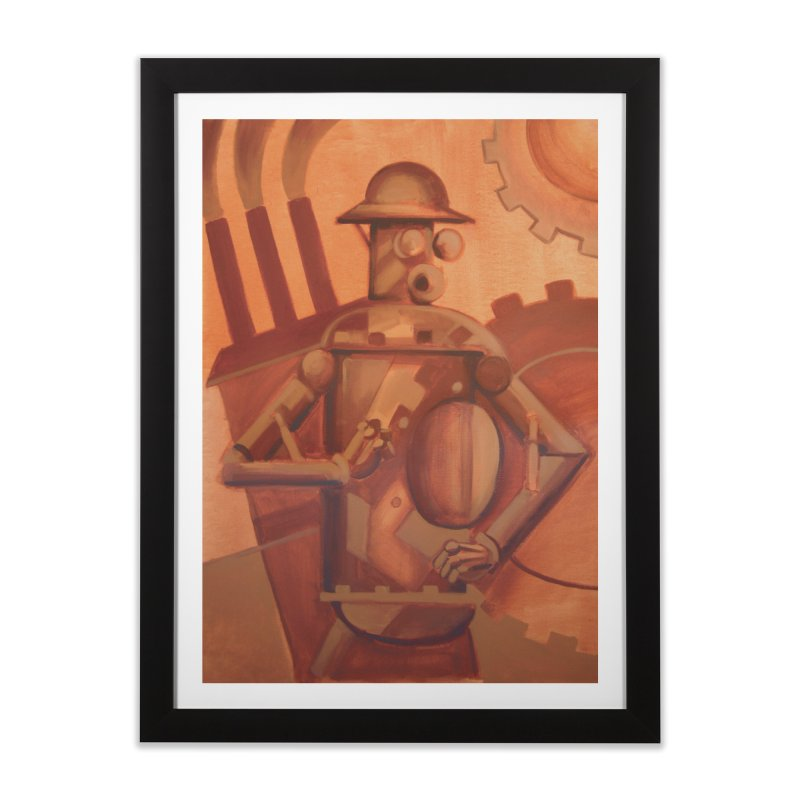 Boilerplate Industrial Painting Home Framed Fine Art Print by Big Red Hair's Artist Shop