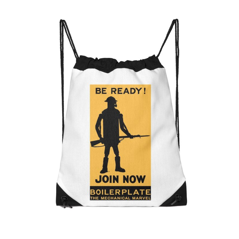 Boilerplate Army Recruiting Poster Accessories Drawstring Bag Bag by Big Red Hair's Artist Shop