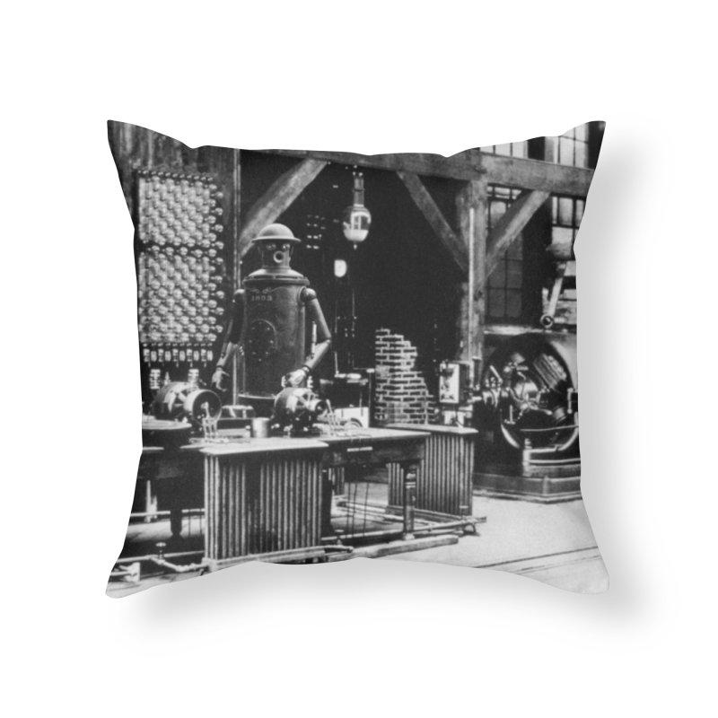 Boilerplate in the Laboratory Home Throw Pillow by Big Red Hair's Artist Shop