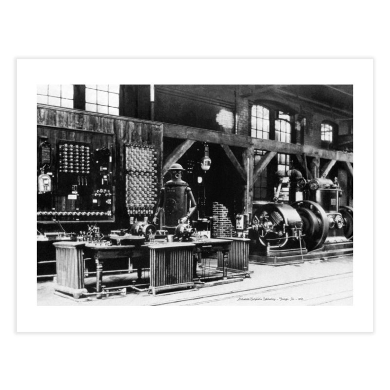 Boilerplate in the Laboratory Home Fine Art Print by Big Red Hair's Artist Shop